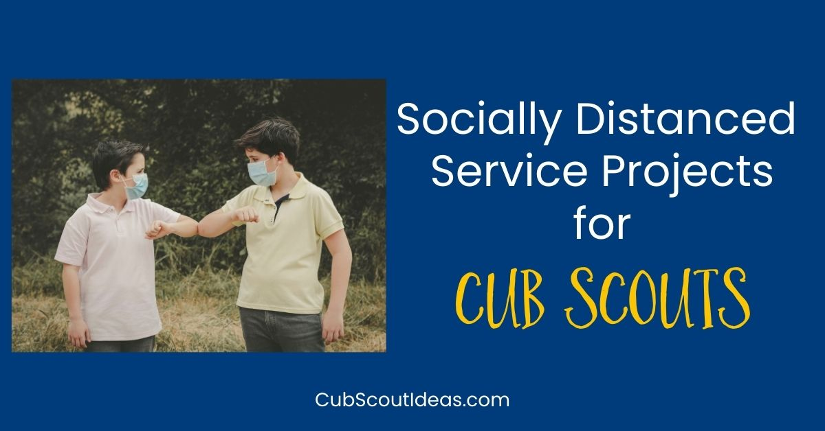 socially distanced service projects for cub scouts