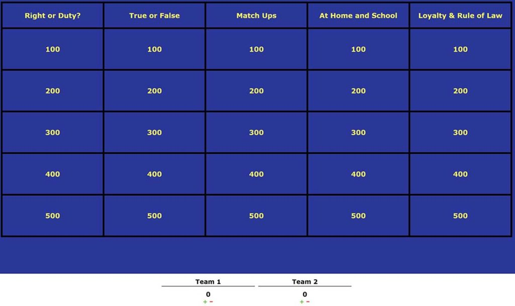 webelos online jeopardy for building a better world