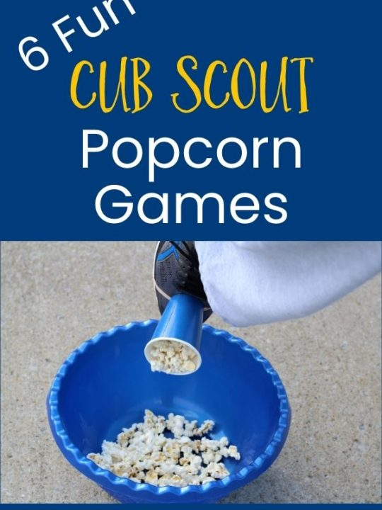 Popcorn Games for cub scouts
