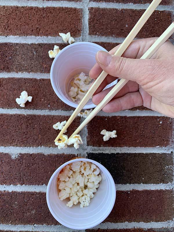 chopstick popcorn game