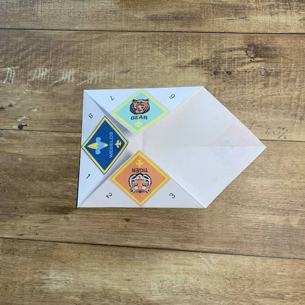 folding fortune tellers step 8