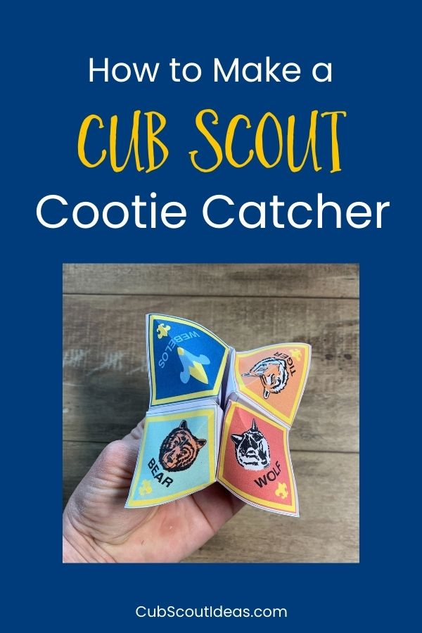 how to make a cub scout cootie catcher